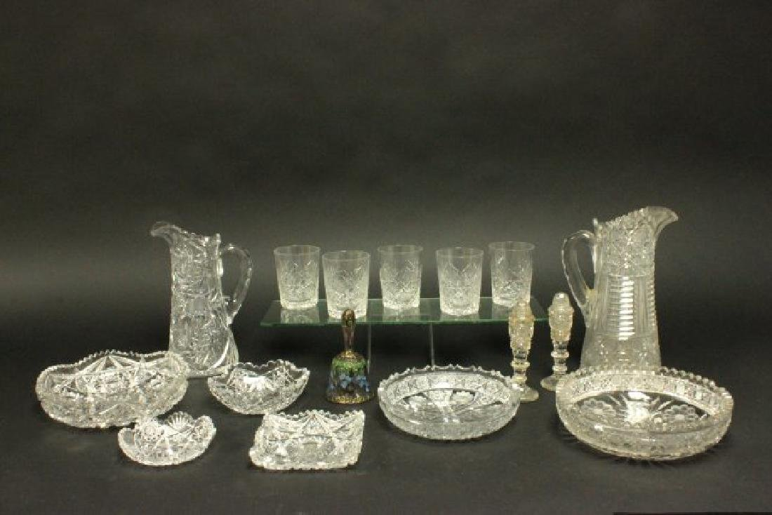 Group Lot of Cut Crystal Glass Items