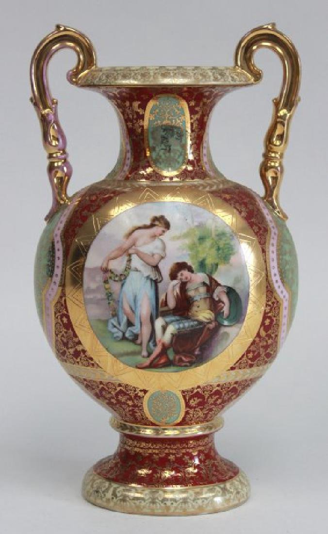 Porcelain Royal Vienna Type Scenic Vase