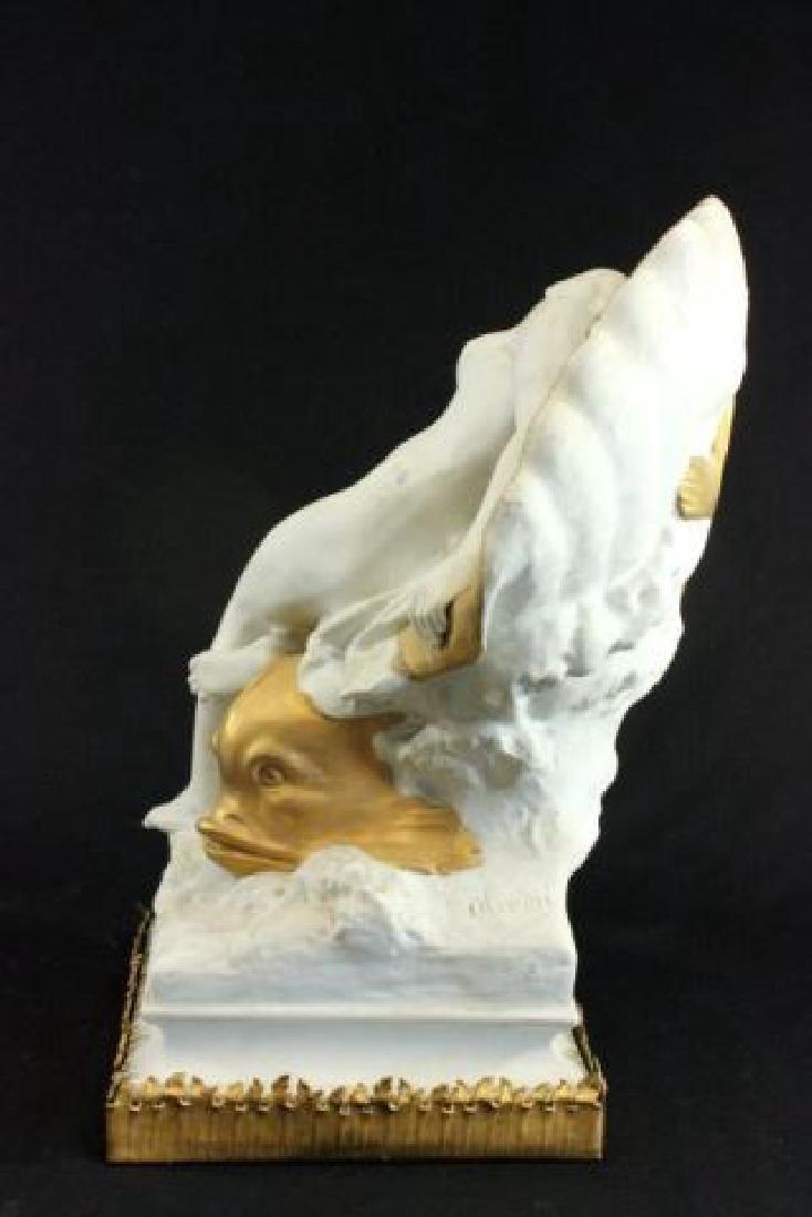 :Unglazed French Porcelain Sculpture - 4