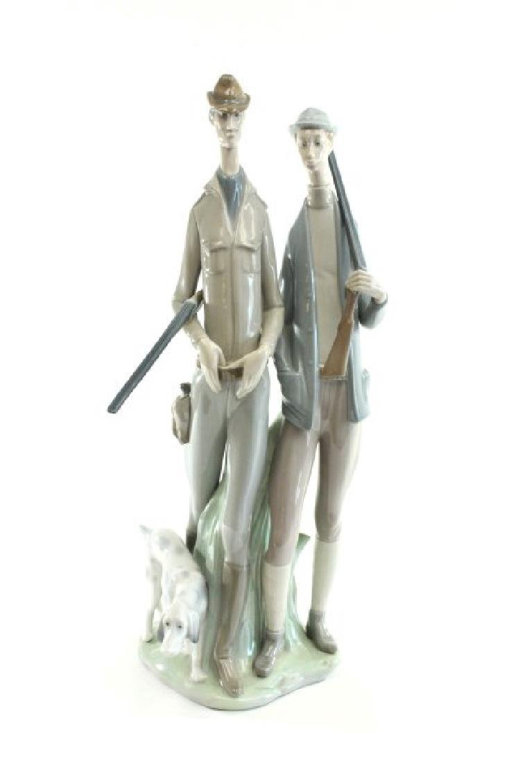 Lladro Hunters with Dog 1048