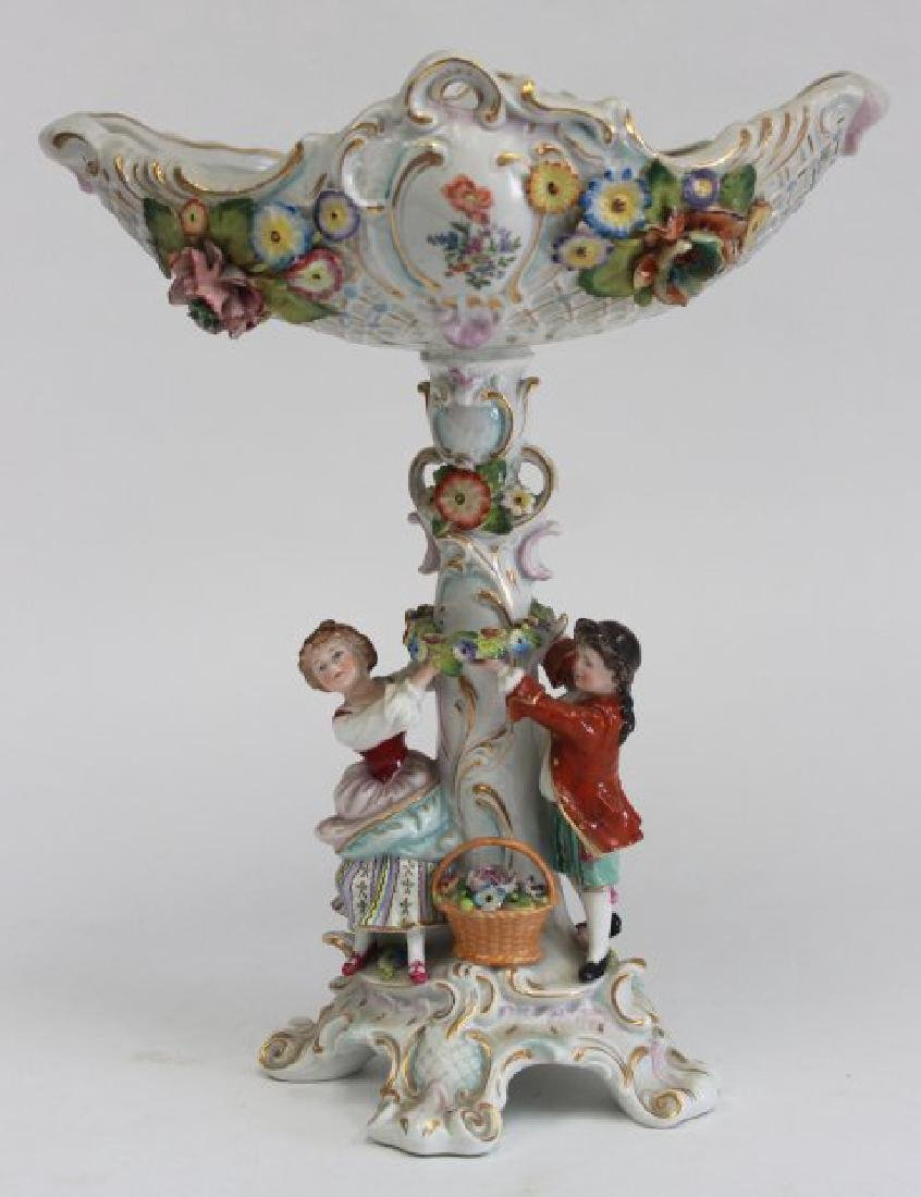 Porcelain Figural Dresden Type Centerpiece
