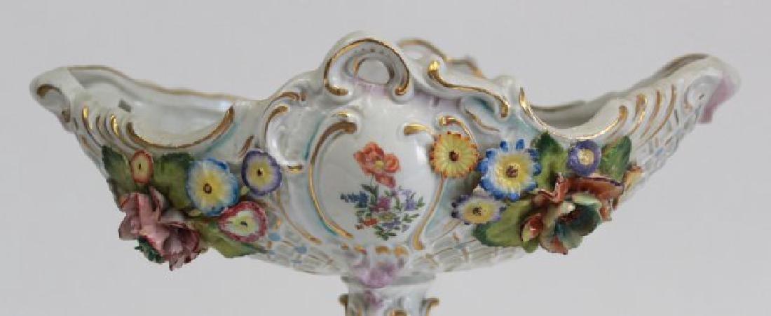 Porcelain Figural Dresden Type Centerpiece - 4