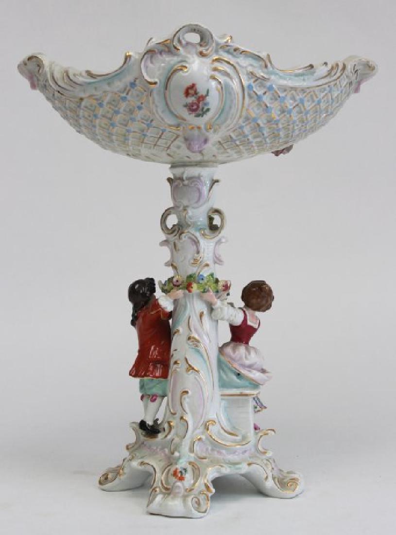 Porcelain Figural Dresden Type Centerpiece - 5