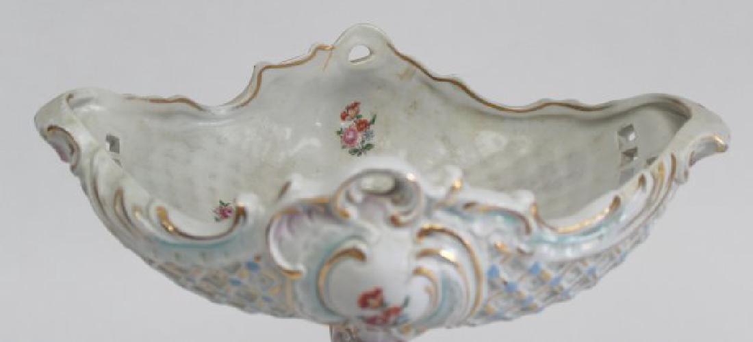Porcelain Figural Dresden Type Centerpiece - 7