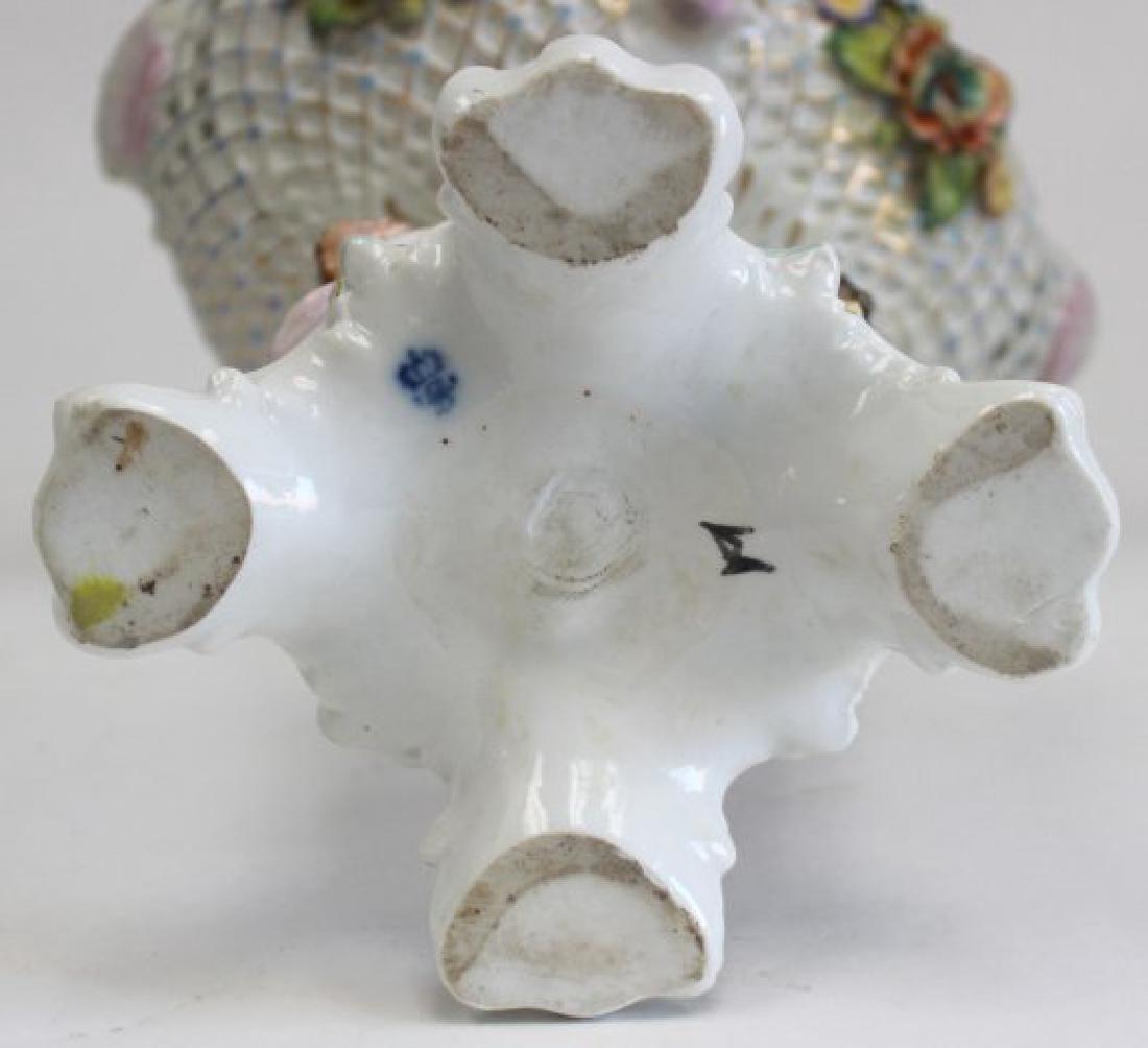 Porcelain Figural Dresden Type Centerpiece - 8
