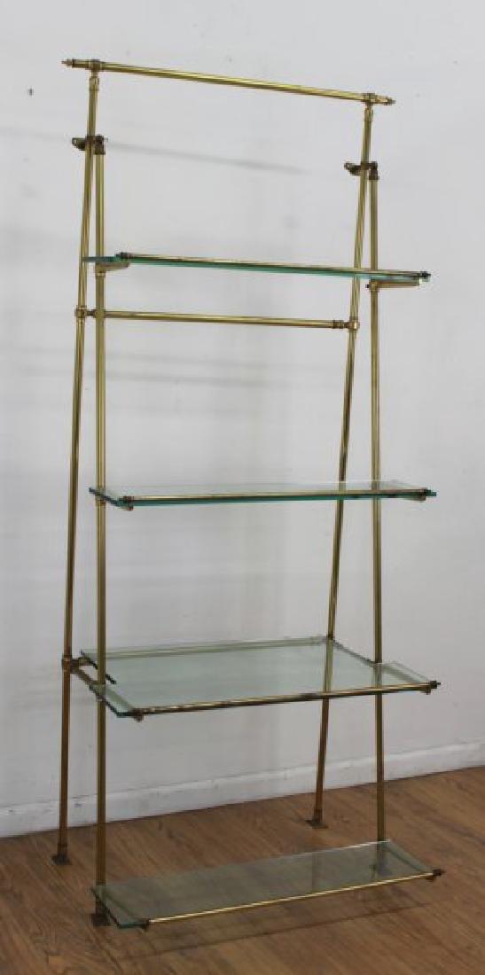 Brass & Glass Etagere