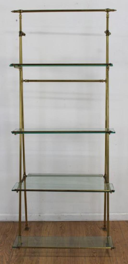 Brass & Glass Etagere - 2