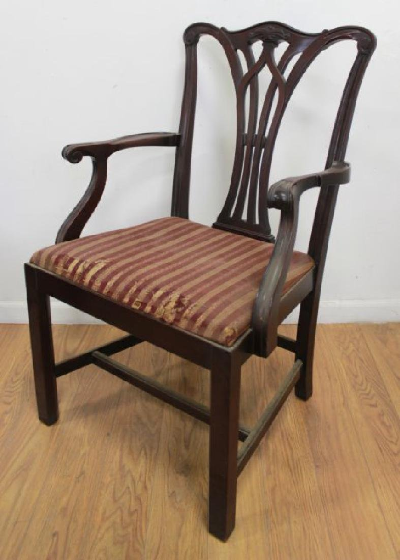 Set 6 Mahogany Chippendale Chairs - 2