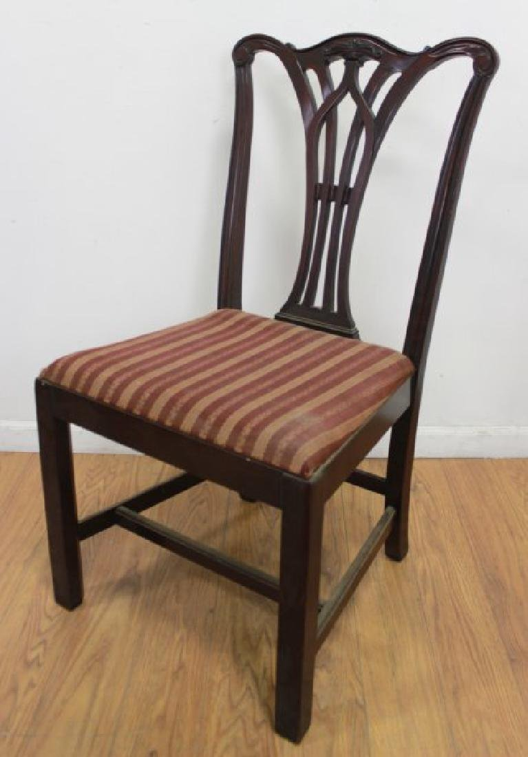 Set 6 Mahogany Chippendale Chairs - 6
