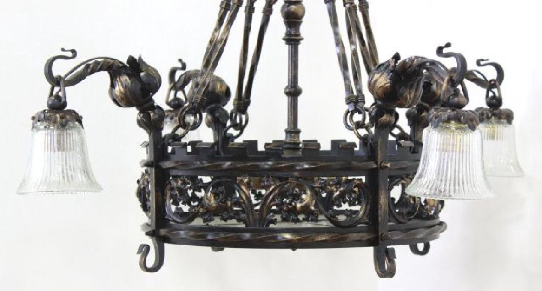 Gothic Style Wrought Iron 8-Light Chandelier - 2