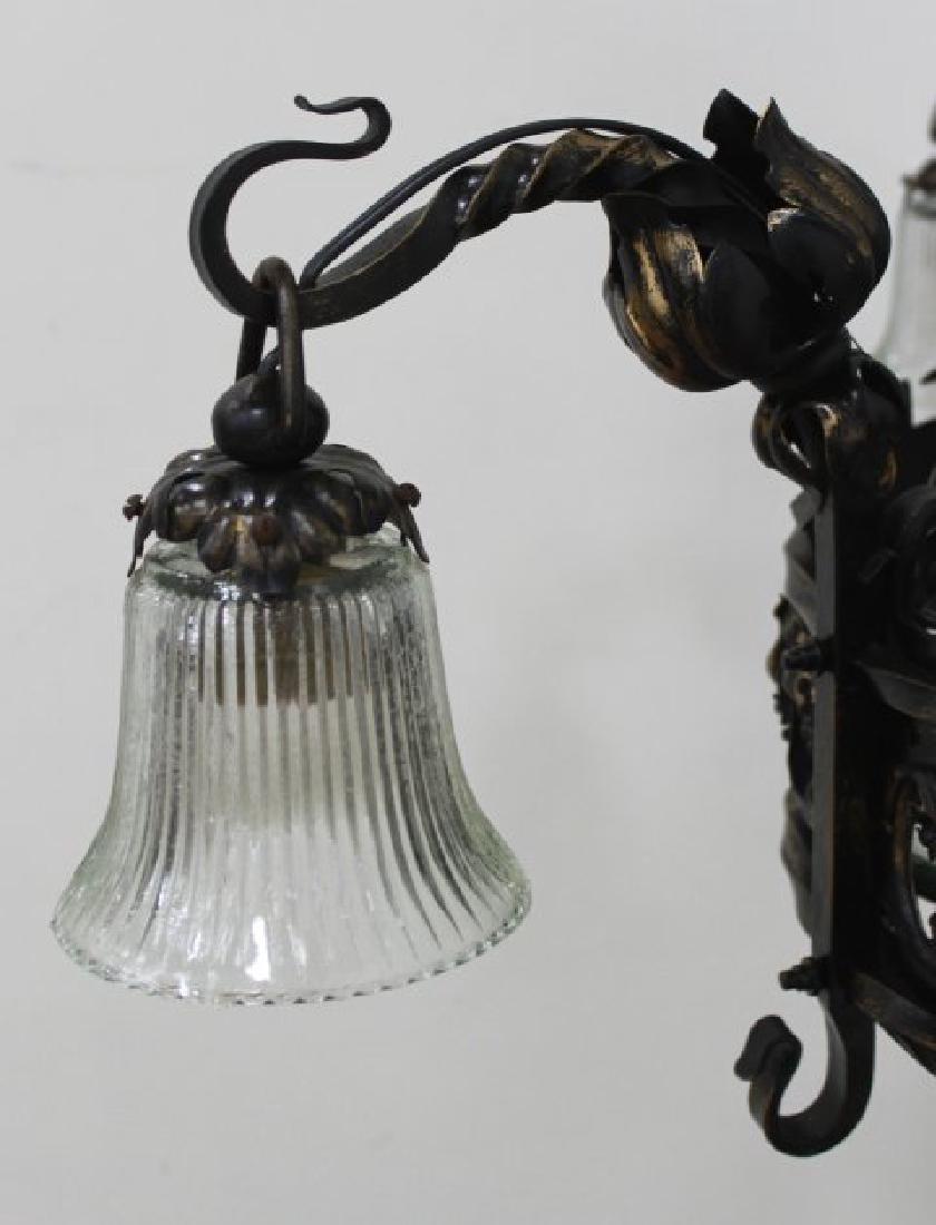 Gothic Style Wrought Iron 8-Light Chandelier - 3