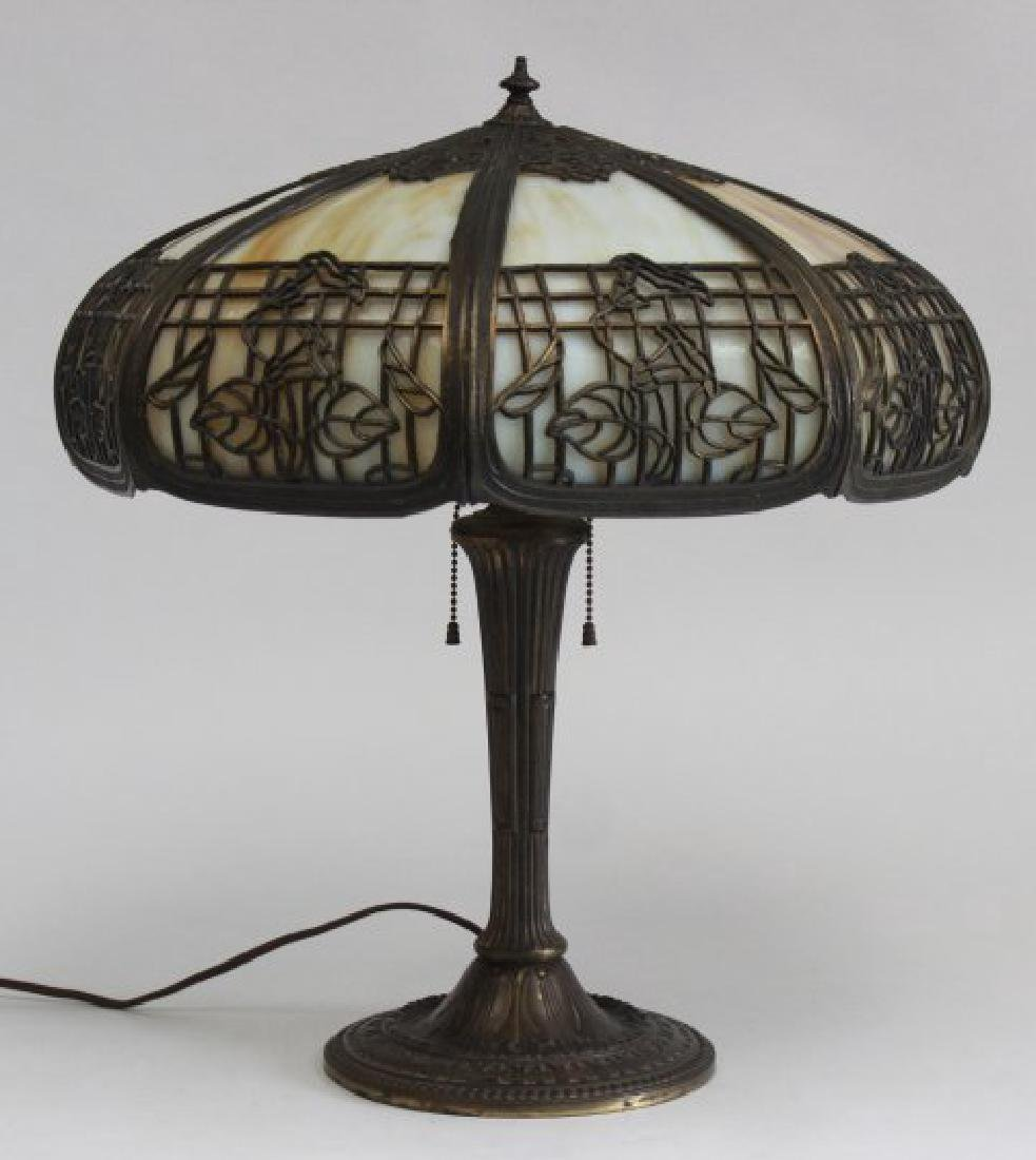 Miller & Co. Slag Glass Table Lamp