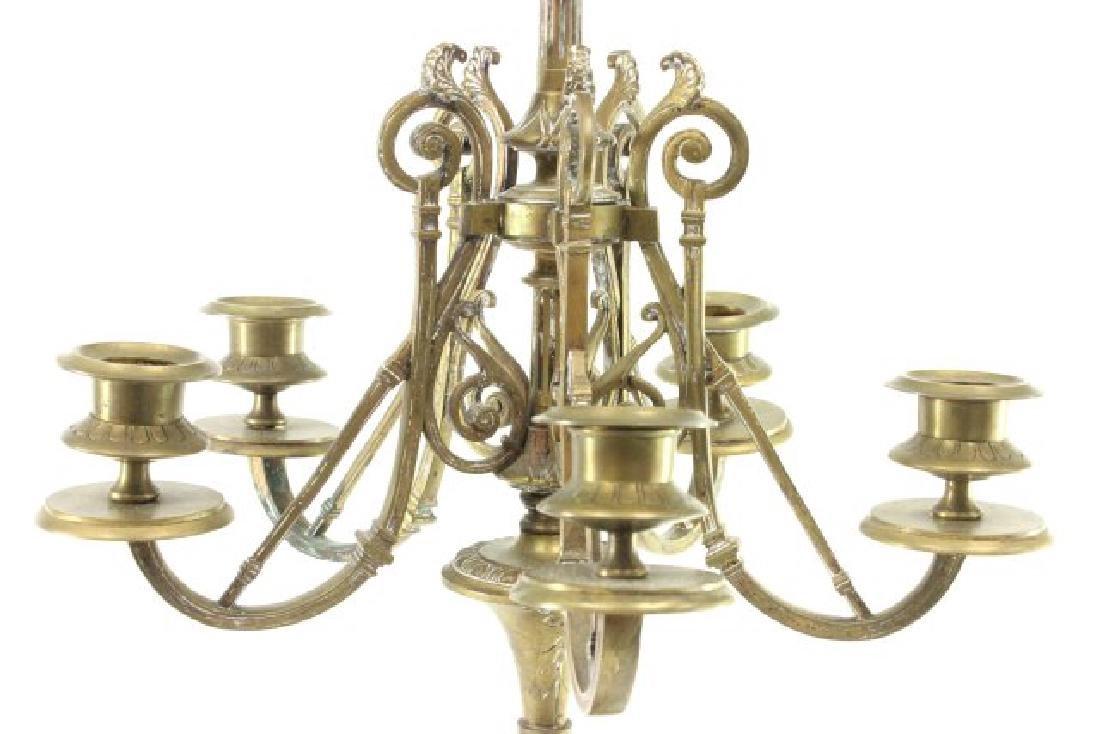 Bronze & Marble 5-Light Candelabra - 3