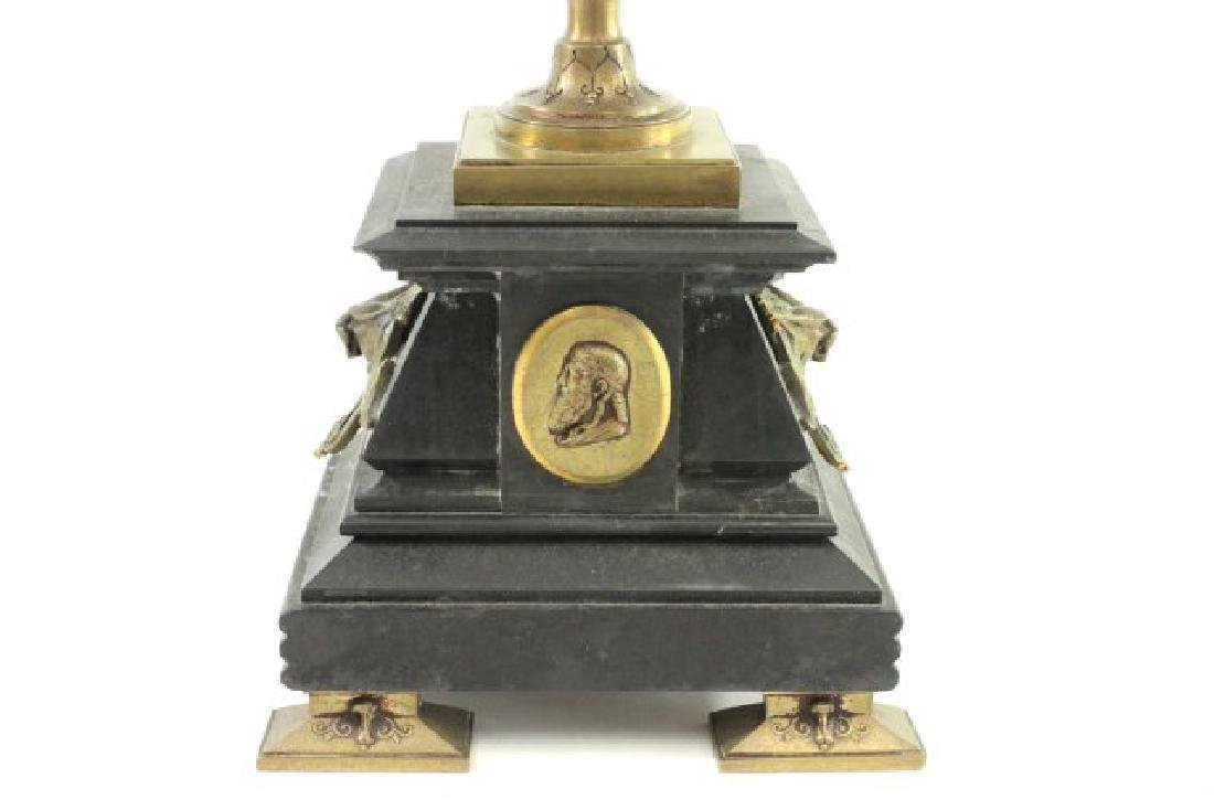 Bronze & Marble 5-Light Candelabra - 5