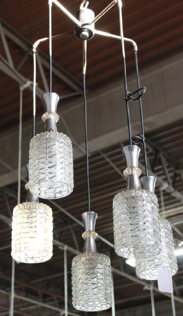 Mid-Century Modern 5 Drop Lights Chandelier