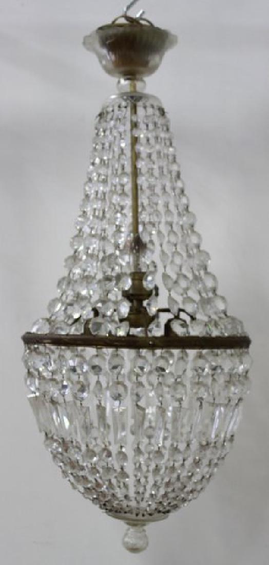 Neoclassic Style Basket Chandelier