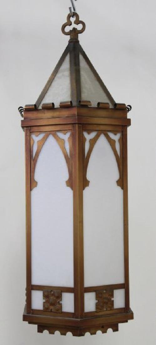 Gothic Style Copper & Hexagonal Hall Lantern
