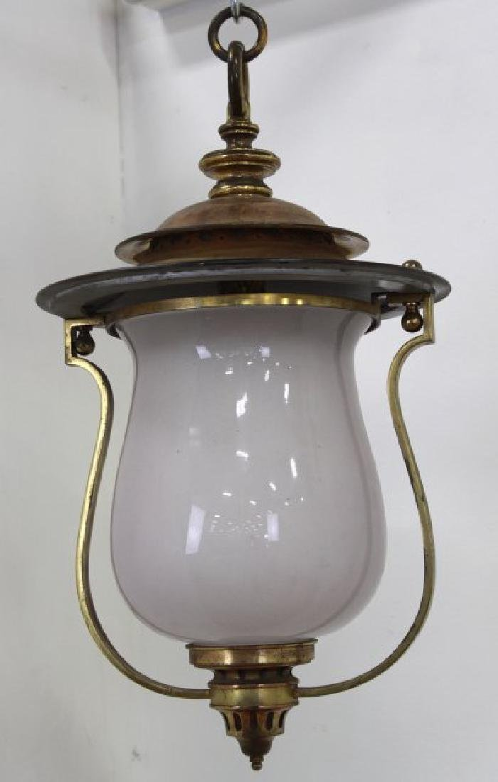 Victorian Brass Hall Lantern