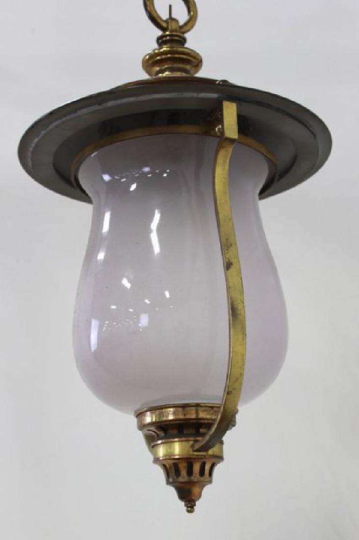Victorian Brass Hall Lantern - 2