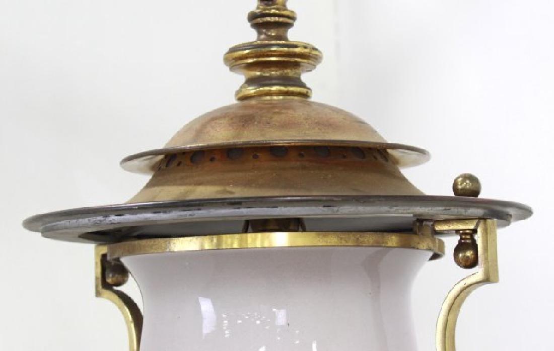 Victorian Brass Hall Lantern - 3