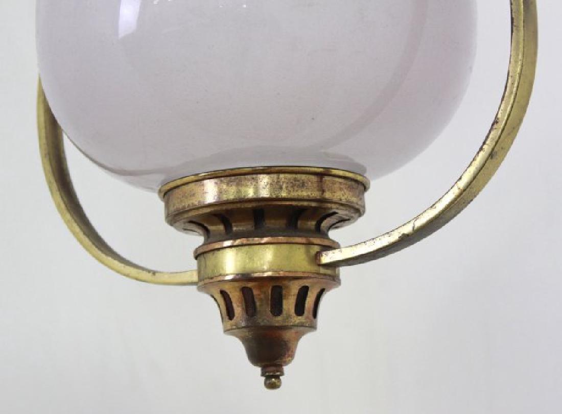 Victorian Brass Hall Lantern - 4