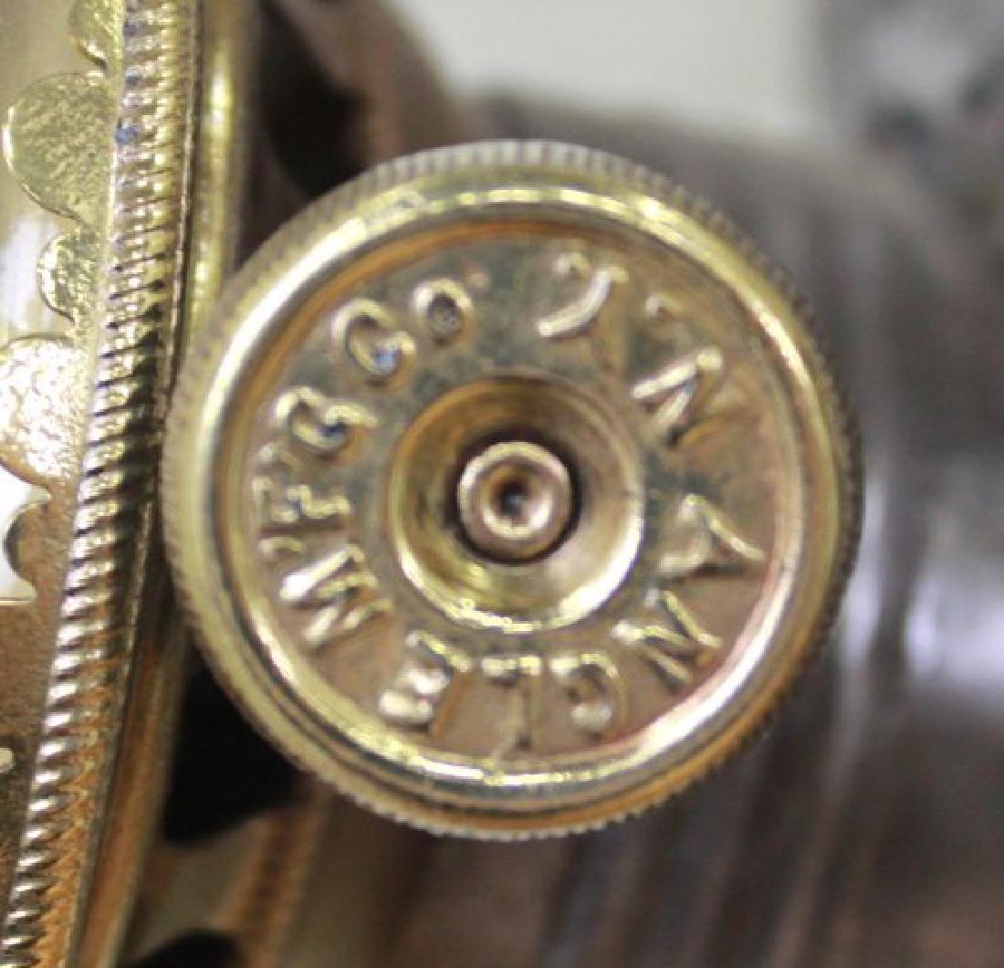 American Victorian Brass & Tin Angel Lamp - 4