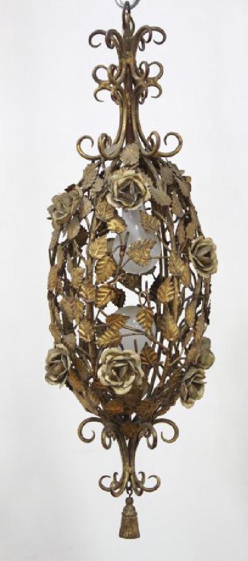 Pair Italian Rococo Style & Foliate Lanterns - 2