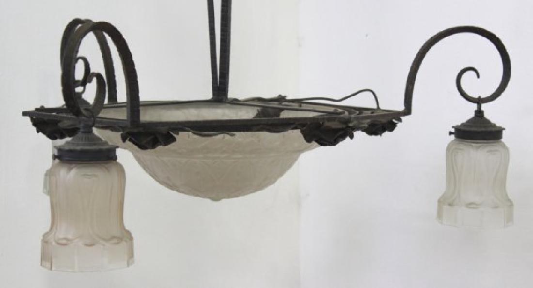 Art Deco 4-Light Chandelier - 2