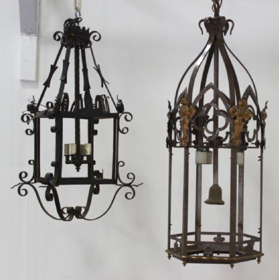 2 English Wrought Iron Lanterns
