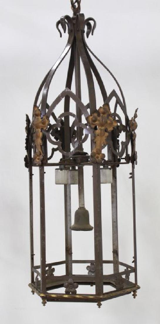 2 English Wrought Iron Lanterns - 2