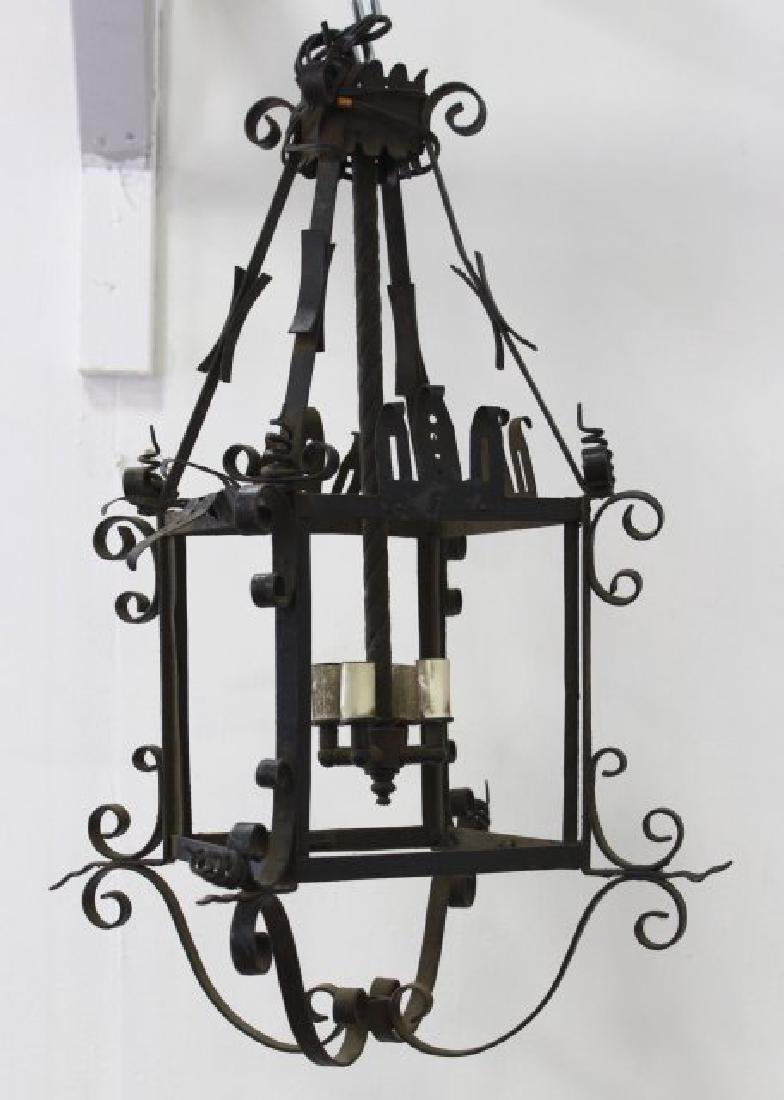 2 English Wrought Iron Lanterns - 3