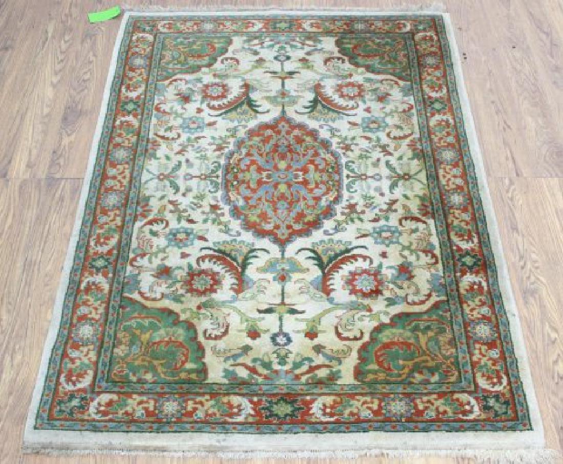 Tan Indo-Persian Handmade Rug/Carpet