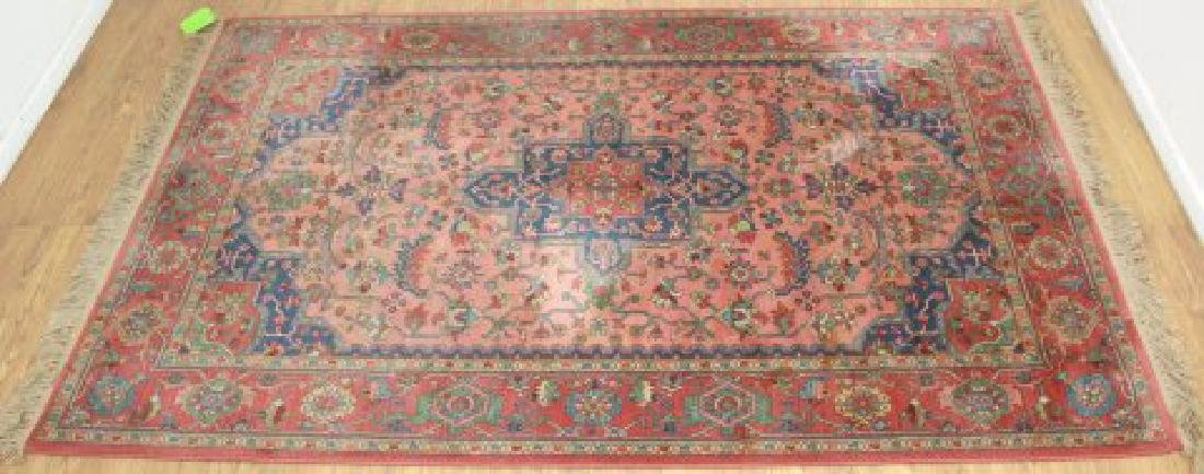 Red Heriz Machine Made Rug/Carpet