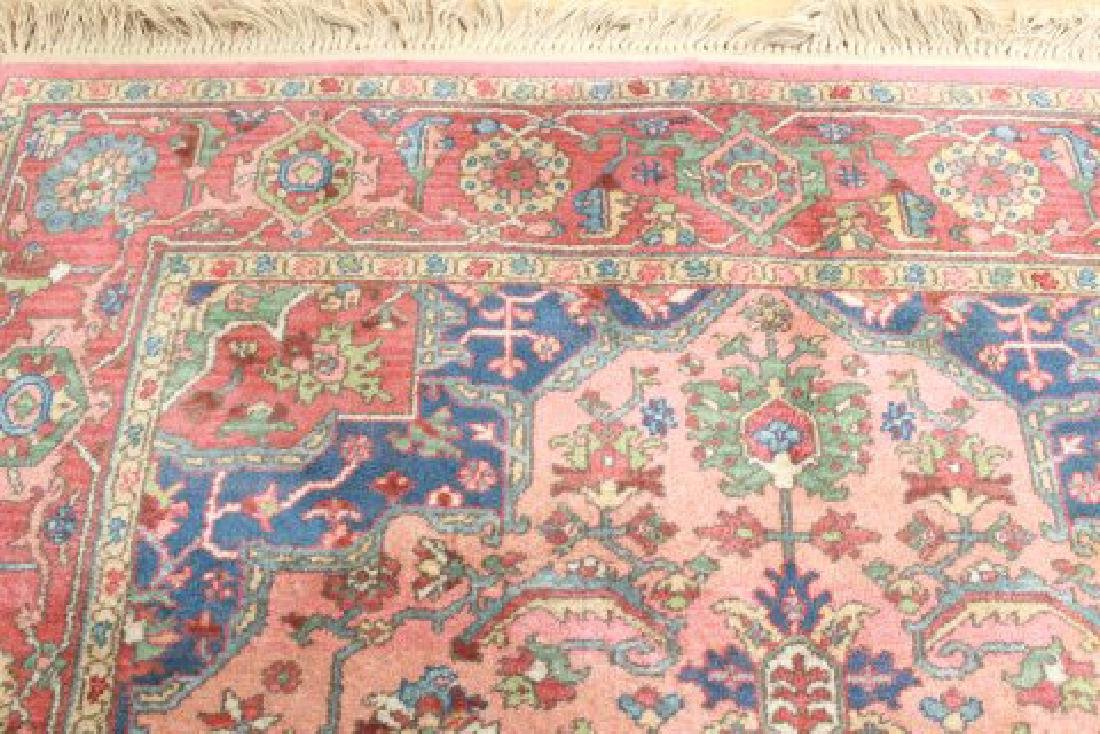 Red Heriz Machine Made Rug/Carpet - 3