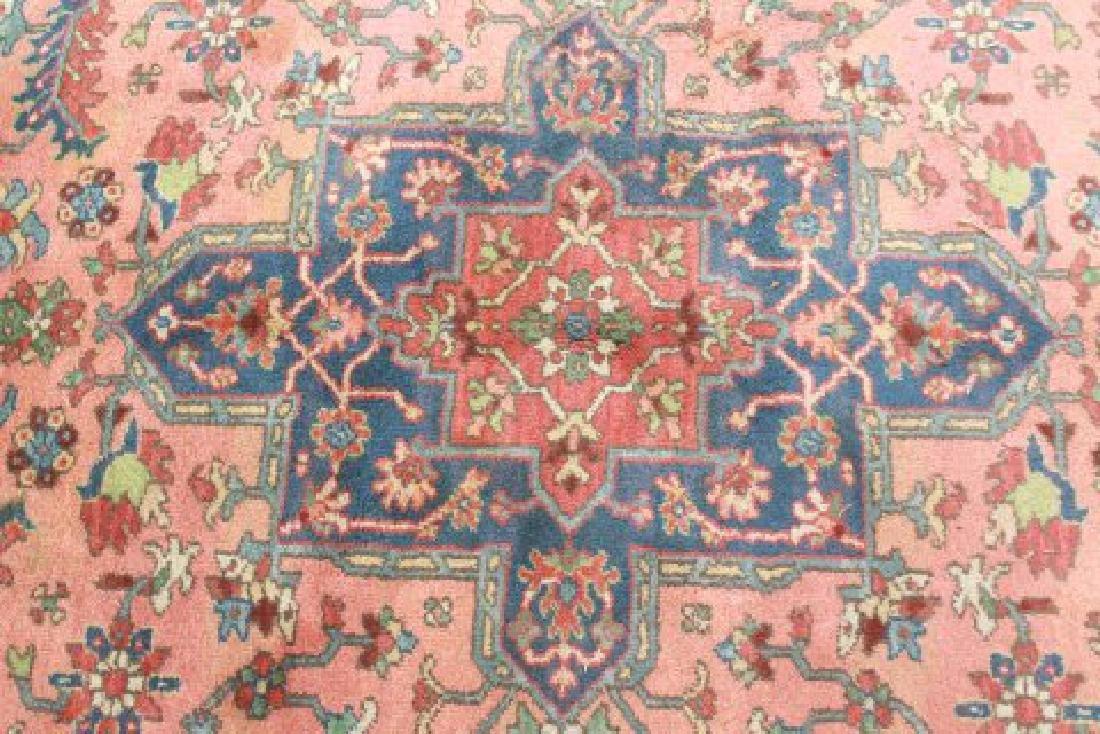 Red Heriz Machine Made Rug/Carpet - 6