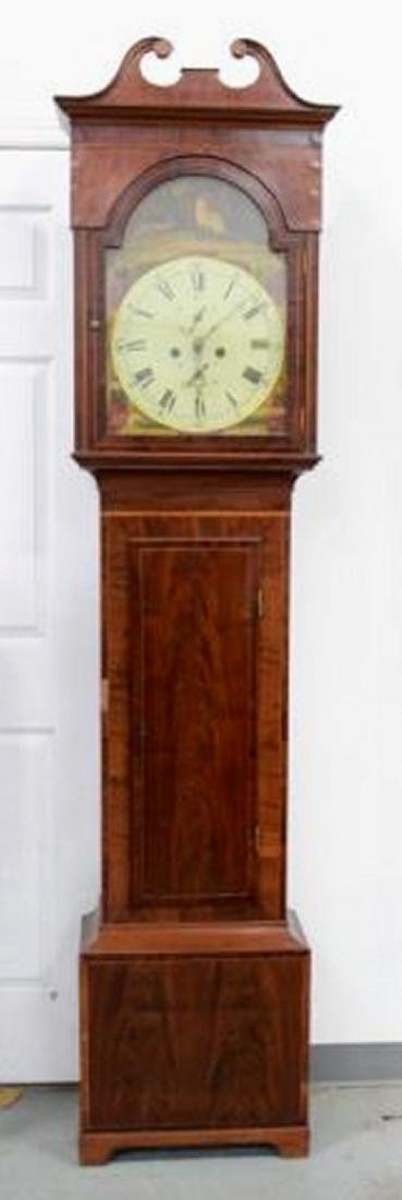 :18th Century Mahogany Case Grandfather Clock