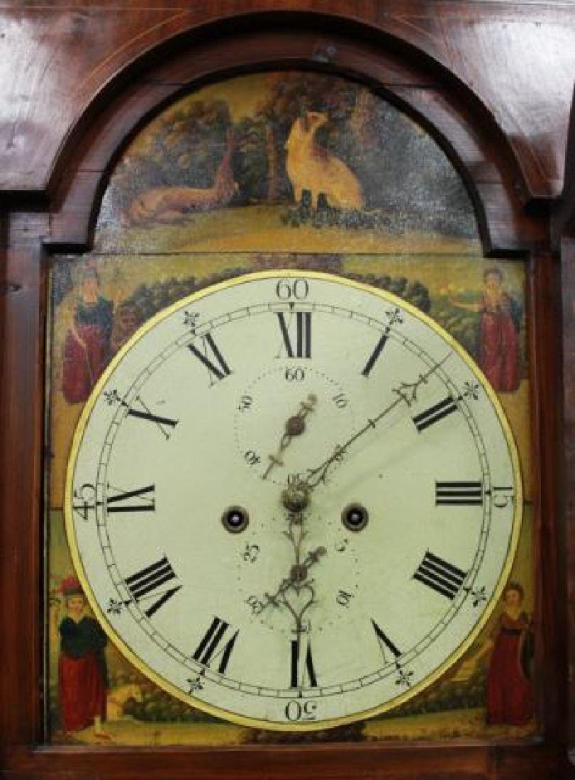 :18th Century Mahogany Case Grandfather Clock - 2