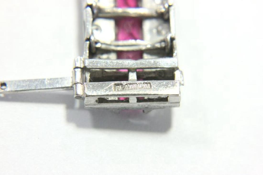 Period Art Deco Platinum, Diamond, & Ruby Bracelet - 3