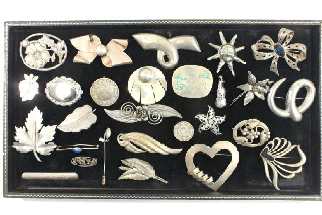 Tray Vintage Sterling Silver Jewelry
