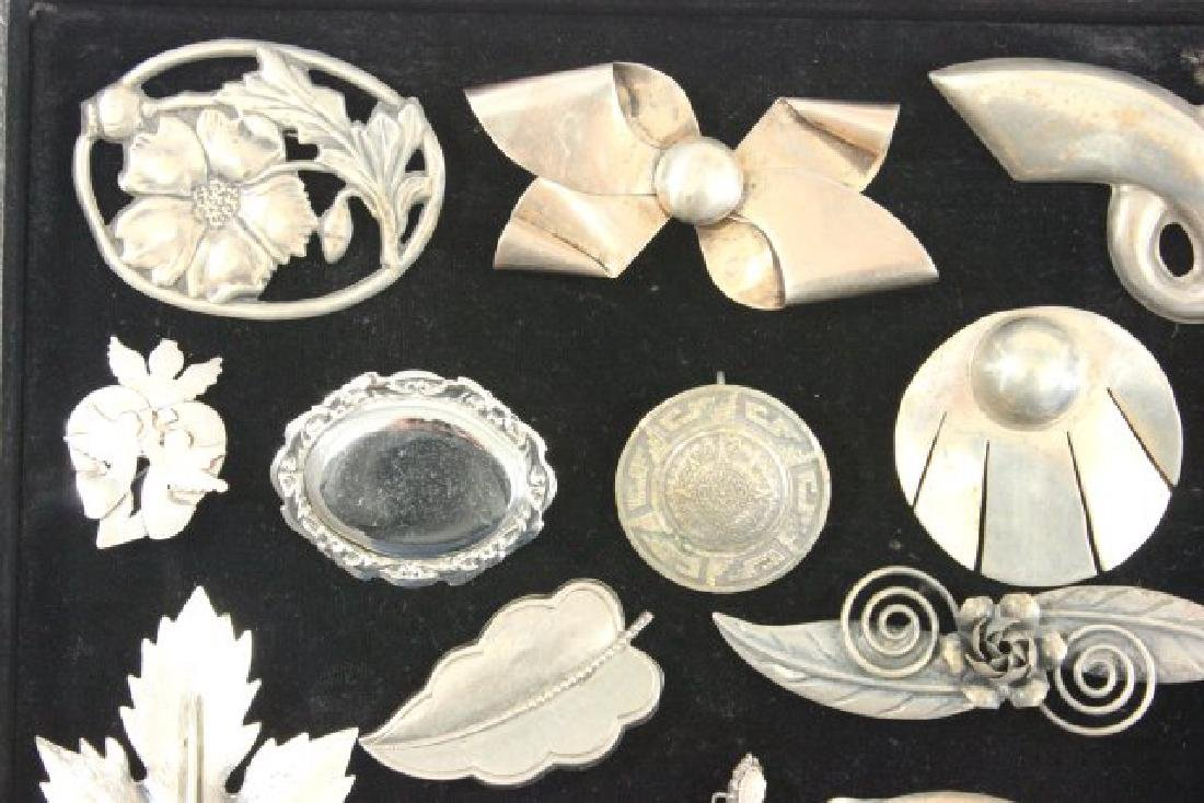 Tray Vintage Sterling Silver Jewelry - 2