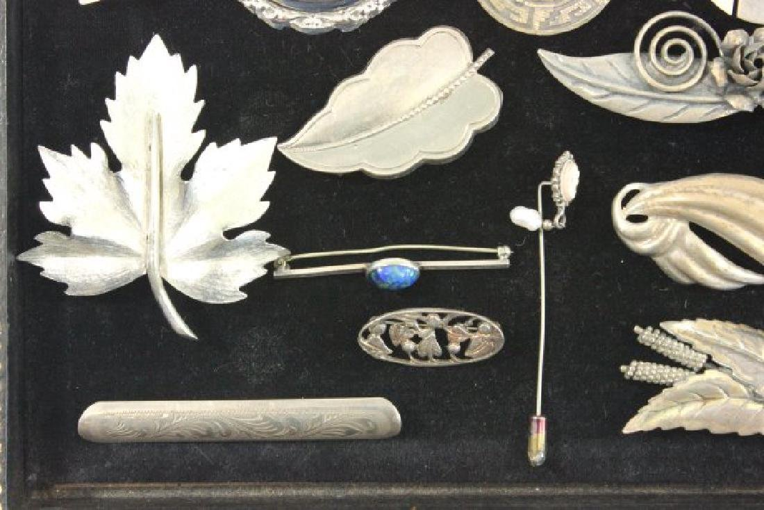 Tray Vintage Sterling Silver Jewelry - 3