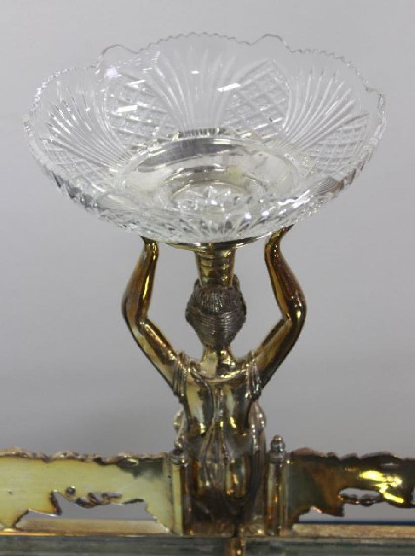 Silvered Bronze Mirrored Top Surtout de Table - 5