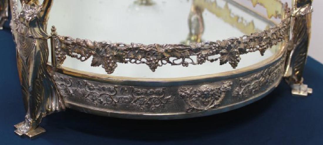 Silvered Bronze Mirrored Top Surtout de Table - 6