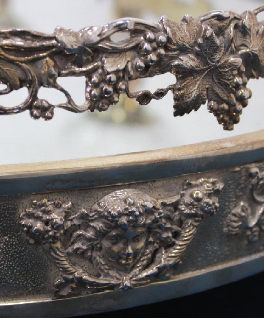 Silvered Bronze Mirrored Top Surtout de Table - 7