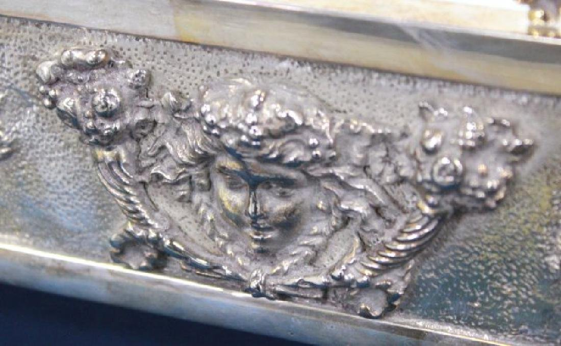Silvered Bronze Mirrored Top Surtout de Table - 8