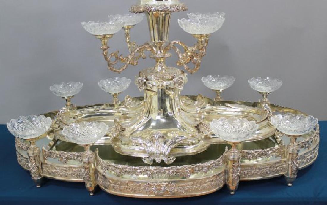 Large Silvered Bronze Figural Centerpiece - 3