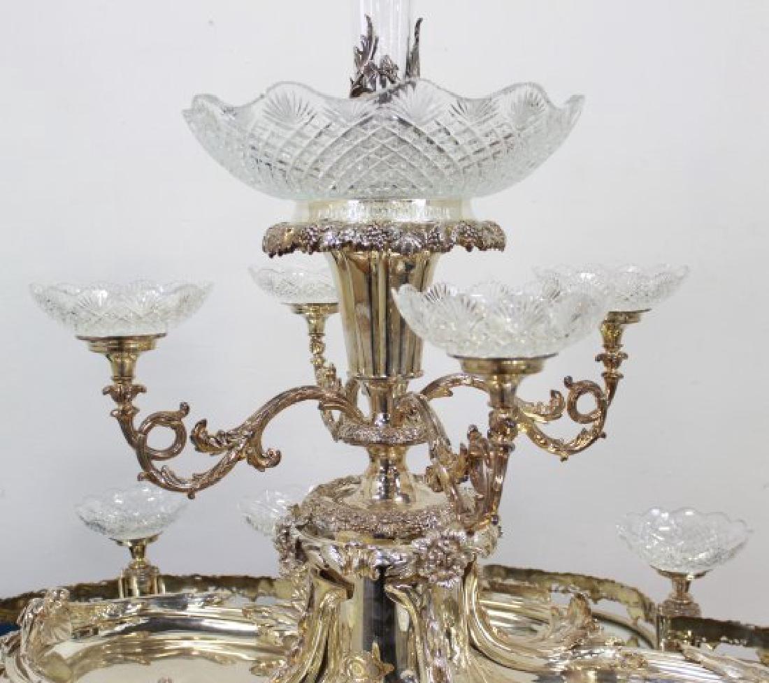 Large Silvered Bronze Figural Centerpiece - 5
