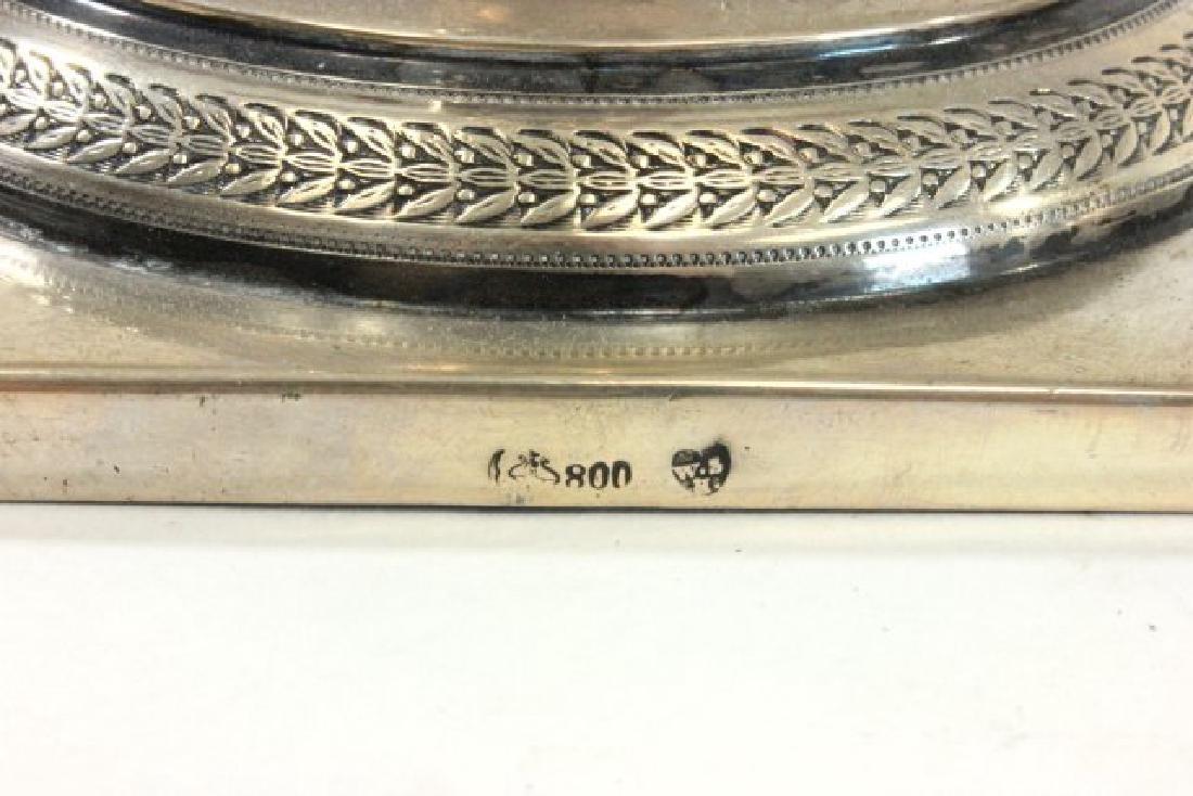 Pair 800 Silver Candlesticks - 6