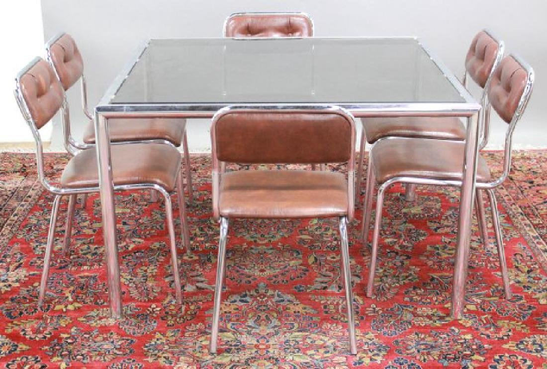 Mid-Century Modern Glass & Chrome Table