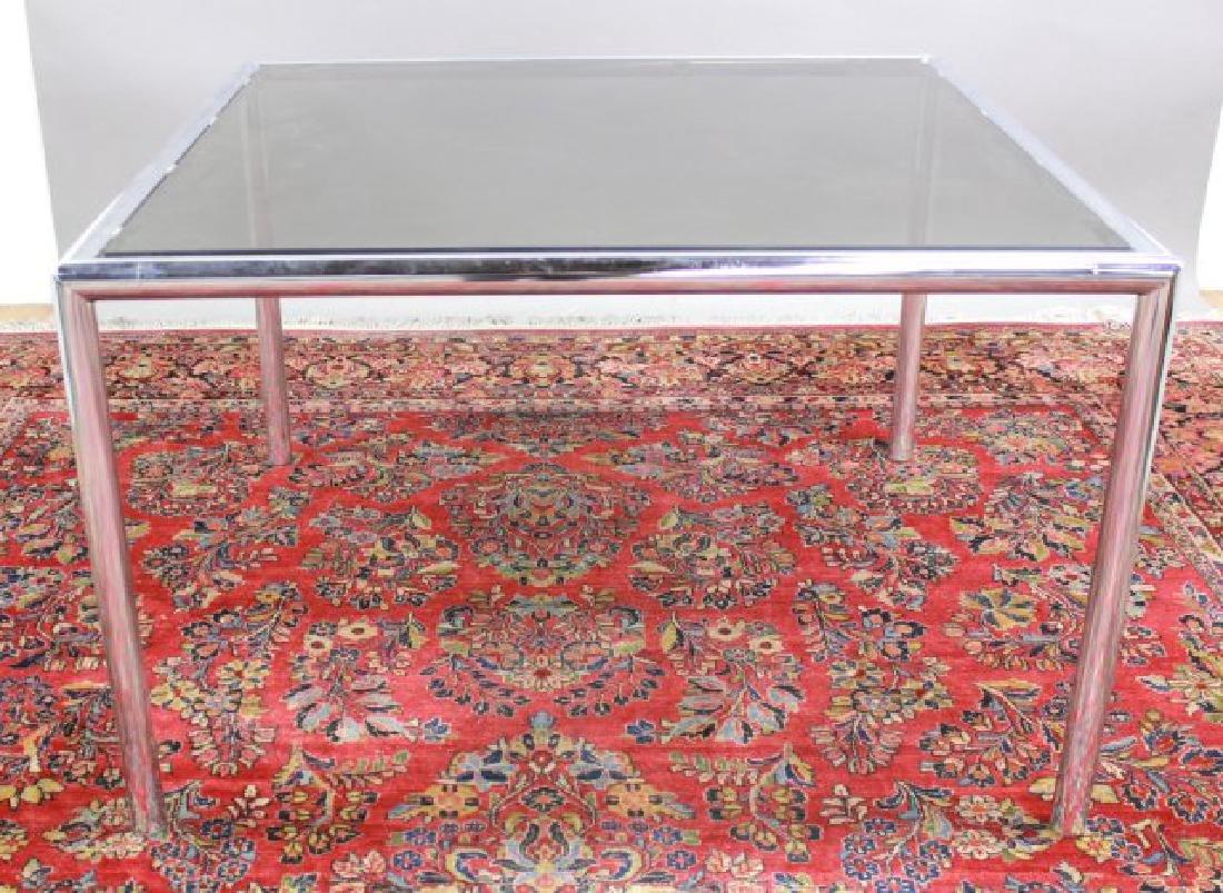 Mid-Century Modern Glass & Chrome Table - 3